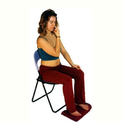 Wechselatmung auf dem Stuhl